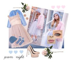 """Prom Night"" by fernshadowstudio-com on Polyvore featuring THP, ABS by Allen Schwartz, ibex, Yves Saint Laurent, Topshop and Allstate Floral"