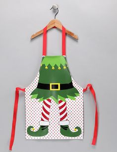 Cute elf apron for the cooks at Christmas or teachers at school party