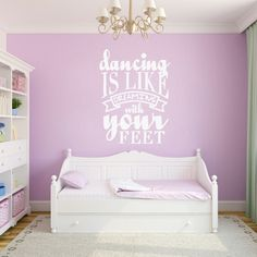 Dancing Is Like Dreaming Wall Decals For Motivational Decor Removable Wall Decals, Vinyl Wall Decals, Wall Stickers, Vine Monogram, Monogram Decal, Vinyl Decor, Wall Decor, Bedroom Wall, Girls Bedroom