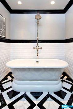 Jeff lewis design stunning frameless glass shower for Jeff lewis bathroom design ideas