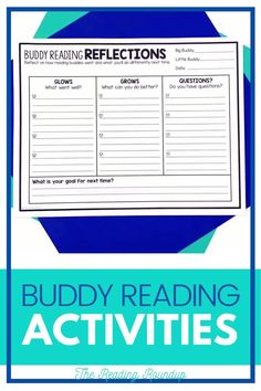 Is your Daily 5 Buddy Reading Center as effective as you'd like for it to be? These reading buddies bookmarks are guaranteed to lead to more student engagement. Elementary students can practice decoding unknown words, answering comprehension questions, making connections, and retelling stories with these bookmarks. Reading response sheets are also available for additional accountability. A must-have for your reading workshop! #thereadingroundup #literacycenters #readingbuddies