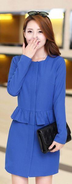 Elegant Asian Coat Falbala Waist-line £18.20