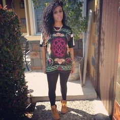 Timbs and a Versace inspired tshirt