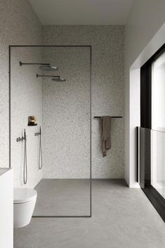 Committing to a contemporary bathroom design can be a space-saving and rewarding decision. There are two different types of contemporary … Modern Master Bathroom, Modern Bathroom Design, Bathroom Interior Design, Minimalist Small Bathrooms, Minimalist Bathroom Design, Simple Bathroom, White Bathroom, Bad Inspiration, Bathroom Inspiration