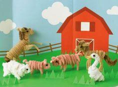 Martha Stewart Crafts - Pipe Cleaner Farm Animals Kit, BRAND NEW