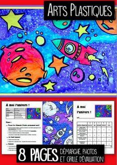 Un projet pour tous ! Aussi bien pour la maternelle que pour les 6e année. Selon leur âge, ils pousseront plus loin le dessin. La technique reste magique ! Feutre permanent noir et feutres ordinaires de couleurs. Nous travaillons l'énumération. (Une belle occasion d'utiliser l'affiche énumération, juxtaposition et superposition, pour ceux qui l'ont déjà.) Description détaillée, photos et grille d'évaluation incluse.