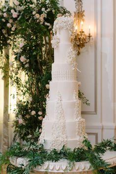 WedLuxe Magazine - The Global Authority on Luxury Weddings 7 Tier Wedding Cakes, Large Wedding Cakes, Luxury Wedding Cake, Dream Wedding, Simple Elegant Wedding, Elegant Wedding Cakes, Glamorous Wedding, Wedding Cake Designs, Wedding News