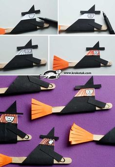57 Creative Halloween Craft Decorating Ideas for Kids & Toddlers - Future Life Halloween Decorations For Kids, Halloween Crafts For Toddlers, Halloween Party Supplies, Halloween Activities, Christmas Crafts For Kids, Halloween Art, Toddler Crafts, Halloween Smash Cake, Hansel Y Gretel