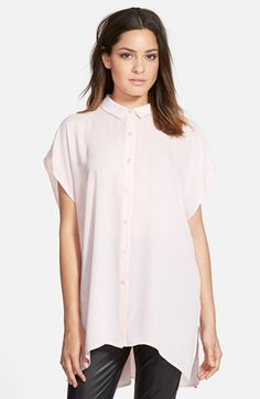 Leith+Oversize+Button+Front+Shirt+available+at+#Nordstrom