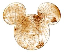 Pirate Map Mickey Head. - idea for scrapbook page!!