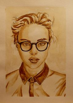 Кофейный портрет 21х30 «Ольга» | Andrew Pugach