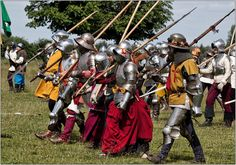 Spearmen forward  The Battle between the Lord John Clifford and the Lord De Massey at Tatton Old Hall. Organised by Plantagenet Events.