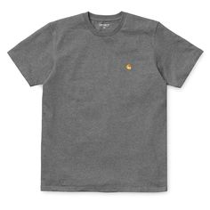 Carhartt wip SS Chase T-Shirt - Dark Grey Regular Fitting T-shirt from carhartt wip chase collection made from heavy winter fabric Cotton Single Jersey, 238 g/sqm logo embroidery on chest crew Carhartt Wip, Dark Grey, Polo Ralph Lauren, Cotton, Mens Tops, T Shirt, Fashion, Supreme T Shirt, Moda