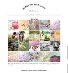 Portfolio Modern Photography Wordpress Blog and Gallery Template With Slider