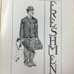 Artist's Cartoon of Freshman Class-TEL-BUCH 1911 Yearbook