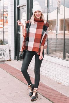 Styling a poncho from casual to dressy is easy. They are actually pretty versatile. From leggings, to jeans, to a dress, click to see all styling options.