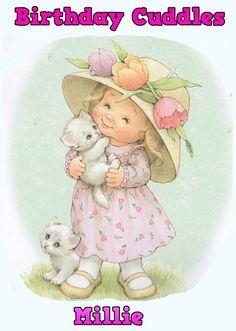 Childs Birthday Card. Cute vintage kid.. by Cutecardsforu on Etsy, £2.00