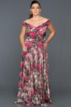 Çiçekli Büyük Beden Abiye AN6861 The Dress, Satin, Dresses, Fashion, Vestidos, Moda, Fashion Styles, Elastic Satin, Dress