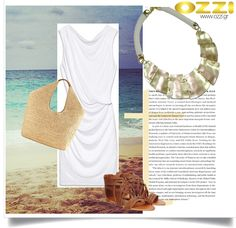 Look with white necklace summer #gold #white #jewellery #accessories #ozzi_jewellery