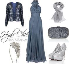 Hijab Evening: Elie Saab chiffon dress
