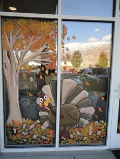Bawden Fine Murals: window painting/ seasons Spring,Summer, Fall etc. Artist Wall, Fall Decor, Fall Window Decorations, Window Decorating, Window Design, Summer Fall, Painted Window Art, Window Paint, Window Mural