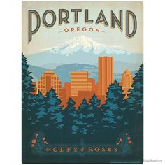 City of Roses Portland Oregon Wall Decal