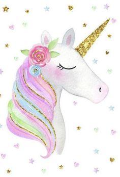 Unicorn Illustration in English Unicorn Wall Art, Unicorn Rooms, Unicorn Drawing, Unicorn Poster, Unicorn Images, Unicorn Pictures, Unicorn Wallpaper Cute, Toile Photo, Unicorn Backgrounds