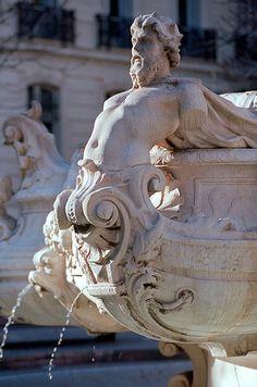 Fontaine Cantini (André Allar) Marseille Alien Concept Art, Stone Carving, Stone Art, Ancient Art, Erotic Art, Joseph, New Art, Sculpting, Lion Sculpture
