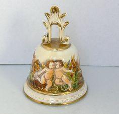 Vintage Porcelain Cherubs Bell