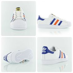 Adidas Originals Superstar East River Rivalry New York Knicks white/blue/orange