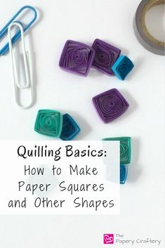 Learn how to make quilling paper squares and other angular quilling shapes for beautiful, unique handmade cards and other creations! Diy Quilling Crafts, Paper Quilling Jewelry, Quilled Paper Art, Quilling Cards, Quilling Ideas, Quilling Instructions, Paper Quilling Tutorial, Paper Quilling Designs, Quilling Patterns