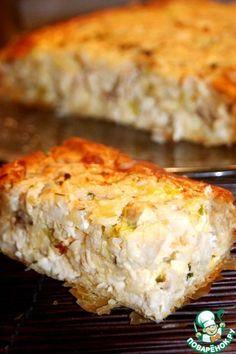 Греческий деревенский пирог с курицей - кулинарный рецепт
