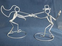 ON GUARD Fencing Wedding Cake Topper by HeatherBoydWire on Etsy, $45.00