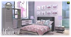 Esta glamorous bedroom at Jomsims Creations Sims 4 House Plans, Sims 4 Bedroom, Sims Games, Sims 4 Houses, Sims 4 Update, Sims 4 Cc Finds, Sims Cc, Toddler Bed, Creations