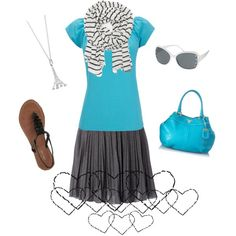 """""""Lovin' the Teal"""" by snickersmama on Polyvore"""