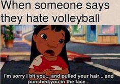 but I wouldn't apologize.../ volleyball humor