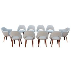 A set of ten dining chairs by Eero Saarinen for Knoll