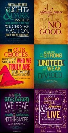 Harry Potter has probably taught me more that school has. Just saying!