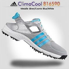 ClimaCool Slingback 816590 Women s Metallic Silver Cosmic Blue-Tmag White  Golf Shoes http b5e4c2695