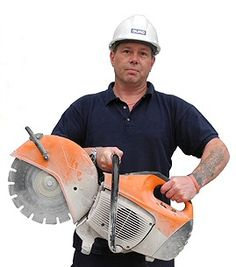 """The petrol engined """"Stihl Saw"""" is always in demand for customers that choose www.leedstoolhire.co.uk.   This handy piece of powered equipment can rapidly cut through stone, concrete, and even sections of steel when fitted with the appropriate cutting blade / disc.   Laying some block paving at your Leeds home? ..make the job easier with the hire of a Stihl saw! #Leeds #Toolhire #Rental"""