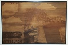 Items similar to Engraved Wood Pittsburgh Wall Art - on Etsy Pittsburgh, Wall Art, Wood, Handmade, Etsy, Vintage, Design, Hand Made, Woodwind Instrument