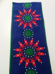 60s vintage swedish retro christmas tablecloth with a by Inspiria