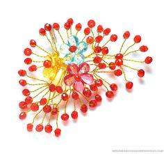 Multicolour Acrylic Wedding Headpieces