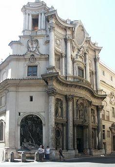 San Carlo Alle Quattro Fontane Located in Rome Italy 1646 Artist Borromini Baroque Style of architecture Architecture Baroque, Sacred Architecture, Classic Architecture, Historical Architecture, Architecture Details, Neoclassical Architecture, Baroque Design, Baroque Art, Art Du Temps