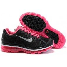 reputable site e591a 22ef4 Womens Nike Air Max 2011 Mesh black deep pink running shoes