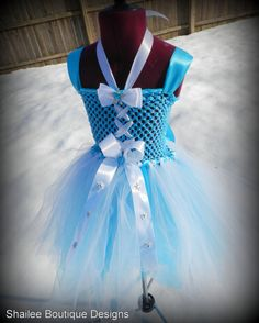 Frozen tutu dress and matching headband / Princess Elsa from Frozen inspired Tutu dress,Frozen dress up / Frozen birthday /purim costumes on Etsy, $65.00