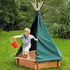 Sandbox with a covered Teepee!