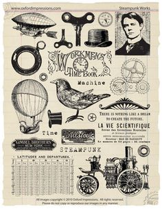Steampunk Works Rubber Stamp Collection