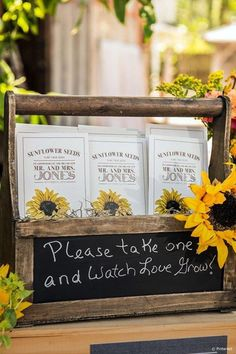 How to incorporate sunflowers into your wedding theme--try Rustic Sunflower wedding favors- sunflower seeds, sunflower wedding ideas, spring weddings,rustic country wedding ideas, wedding theme Rustic Wedding Favors, Rustic Wedding Flowers, Bridal Shower Rustic, Rustic Weddings, Country Weddings, Vintage Weddings, Wedding Colors, Romantic Weddings, Wedding Ideas With Sunflowers
