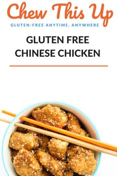 Gluten Free Chinese Chicken is addicting. Read more about gluten free chinese food HERE and how to make gluten free chinese chicken recipes TODAY. Gluten Free Recipes For Kids, Healthy Meat Recipes, Healthy Breakfast Recipes, Drink Recipes, Dinner Recipes, Chinese Chicken Recipes, Easy Chinese Recipes, Easy Chicken Recipes, Easy Recipes